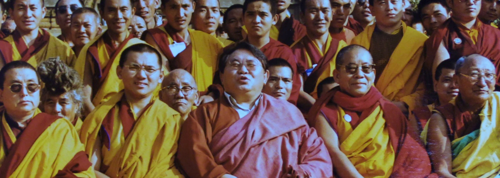 Sogyal Rinpoche in group photo with tibetan monks - Guru in Disgrace - THIS Buddhist Film Festival
