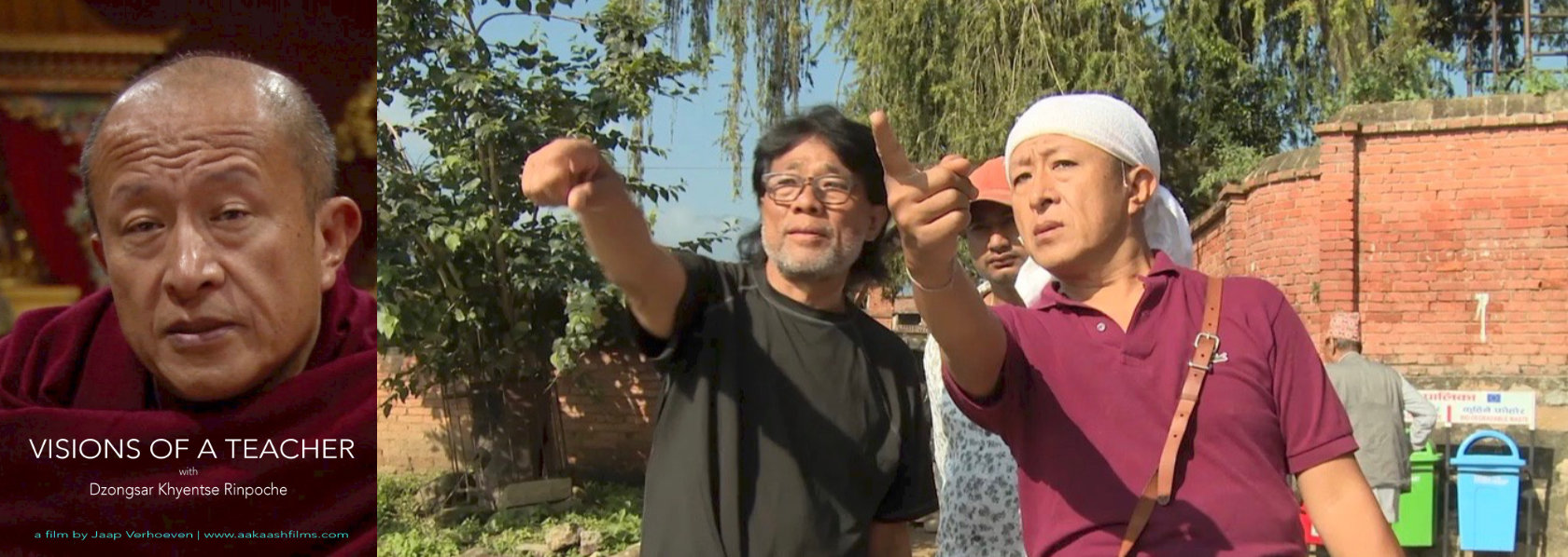 Khyentse Norbu directing staff on set - Visions of a Teacher - THIS Buddhist Film Festival
